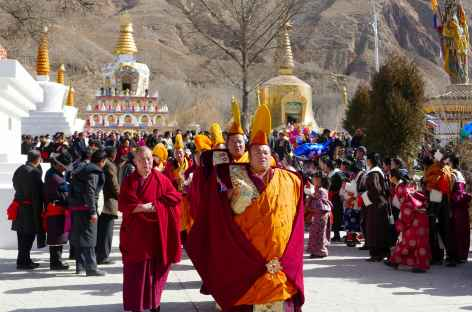 Procession lors d'un festival - Amdo -