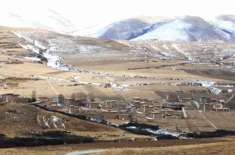 Paysage hivernal de l'Amdo -
