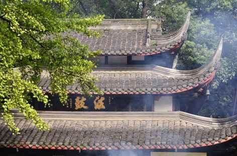 Détail d'un temple à Chengdu - Chine -