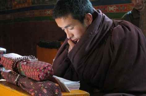 En plein cérémonie Tibet -