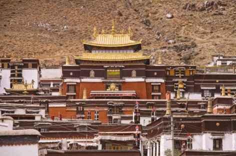 L'importante cité monastique de Shigatsé -