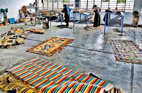 Fabrique artisanale de tapis- Tibet -