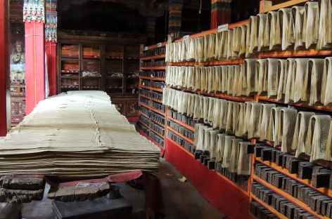 Imprimerie à Ganden- Tibet -