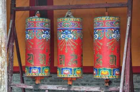 Moulin à prière au Kumbum - Tibet -