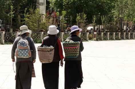 Place à Gyantse - Tibet -