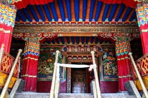 Entrée du monastère Samding - Tibet -