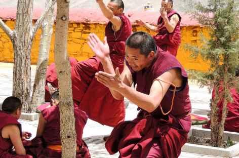 Joutes à Ganden - Tibet -