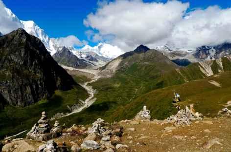 Pendant le trek, vue du Sha U La  - Tibet -