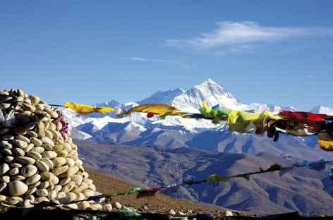 Everest depuis le Pang La- Tibet -