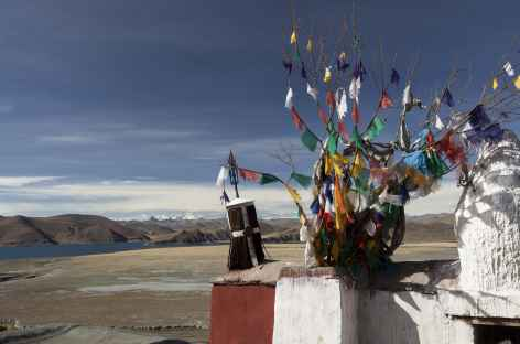 Vue des toits de Samding- Tibet -