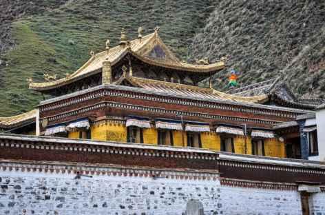 Les magnifiques toitures ouvragées de Labrang - Amdo, Chine -