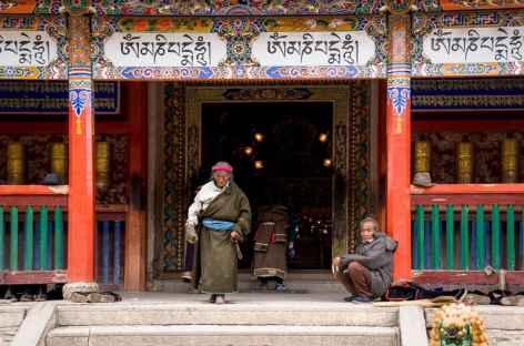 L'une des chapelles du monastère de Labrang - Amdo, Chine -