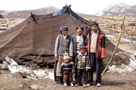 Famille nomade - Tibet -