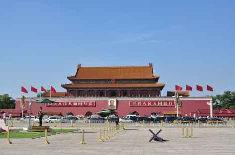 La porte de la Paix céleste ou Tian'anmen, Pékin Chine -