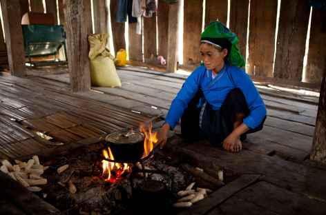 Chez l'habitant région Pan Hou Vietnam -