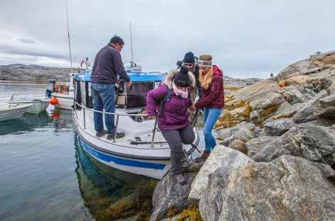 Débarquement dans la baie de Tiniteqilaq - Groenland -