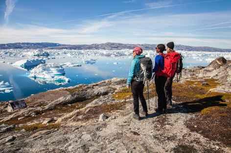 Fjord de glace Sermilik depuis la crête de Tiniteqilaq - Groenland -
