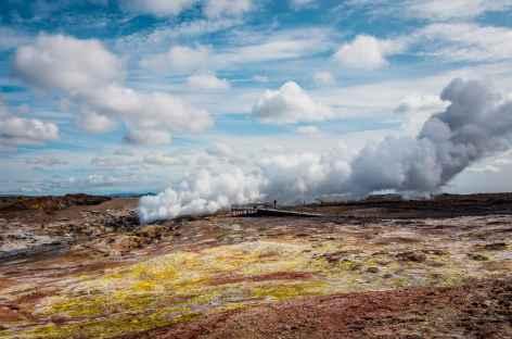 Site géothermique de Gunnuhver, péninsule de Reykjanes - Islande -