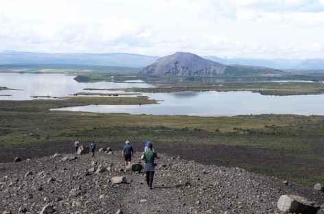 Lac Myvatn depuis Hverfell - Islande -
