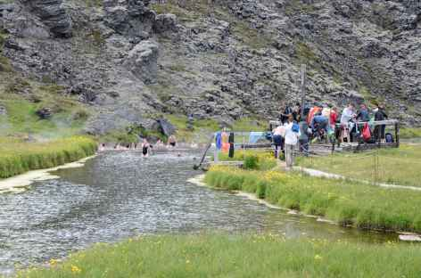 Source chaude de Landmannalaugar, Islande -