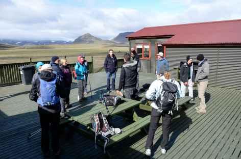 Briefing de trek au refuge de Landmannahellir, Islande -