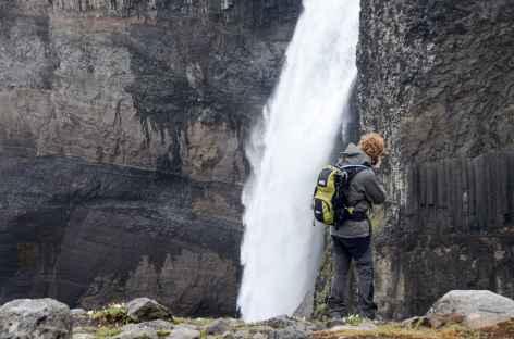 Háifoss, 2e plus haute chute d'eau du pays, Islande -