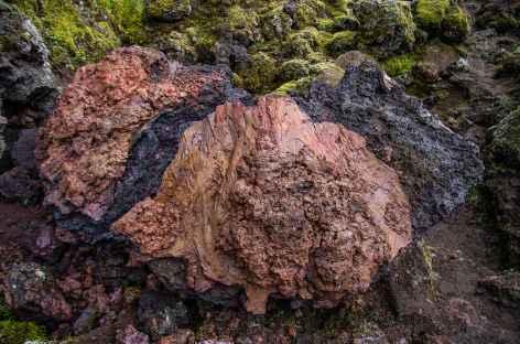 Région des cratères du volcan Laki, Islande -