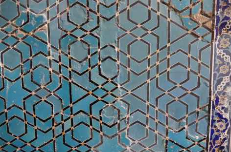 Faience de la mosquée bleue, Tabriz - Iran -