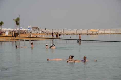 Plage d'Ein Bokek, mer Morte - Israël -
