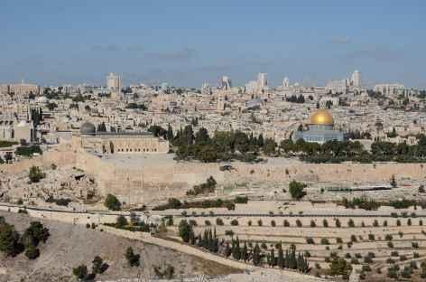 Vieille ville de Jérusalem depuis le Mont des Oliviers - Israël -
