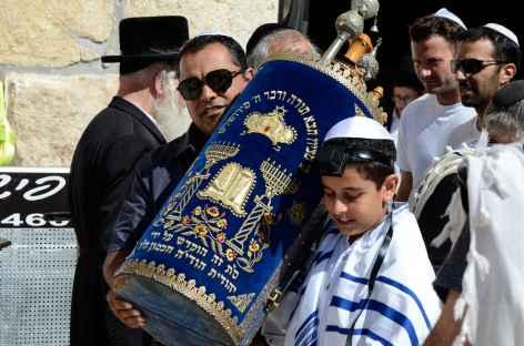Bar Mitzvah au Mur des Lamentations, Jérusalem - Israël -