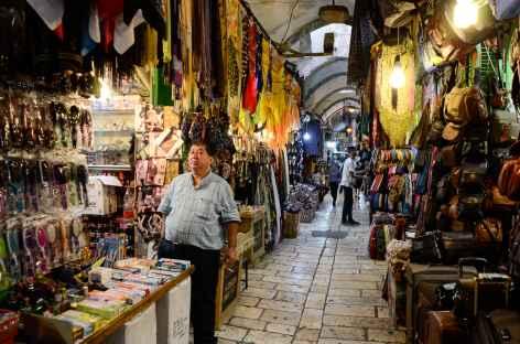Souk dans la vieille ville de Jérusalem - Israël -