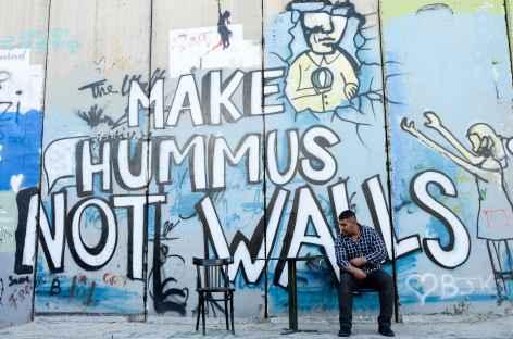 Mur de séparation à Bethléem - Palestine -