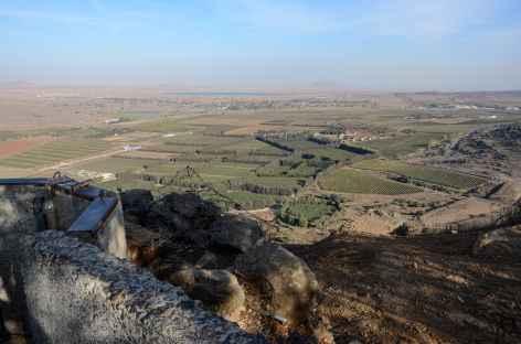 Vue sur la Syrie depuis le Mont Bental, plateau du Golan - Israël -