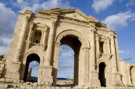 Porte d'Hadrien à Jérash - Jordanie -