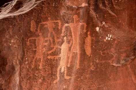 Gravure rupestre dans le désert du Wadi Rum - Jordanie -
