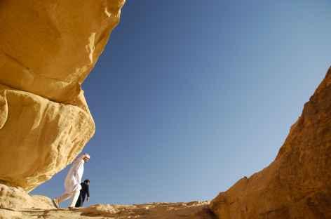 Arche rocheuse dans le désert - Jordanie -