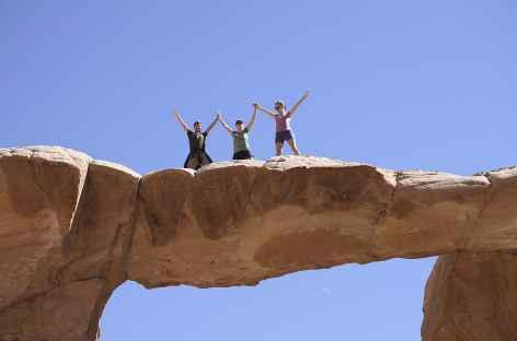 Désert du Wadi Rum, arche d'Umm Fruth - Jordanie -