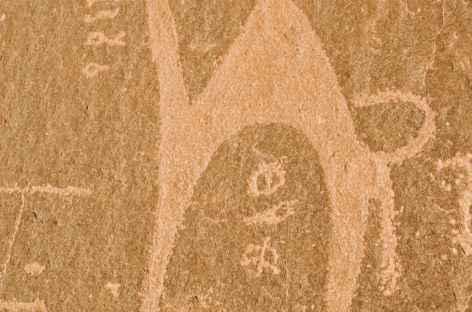 Gravures rupestres, désert du Wadi Rum - Jordanie -