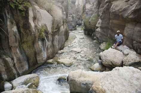 Marche aquatique dans le Wadi Ben Hammad - Jordanie -