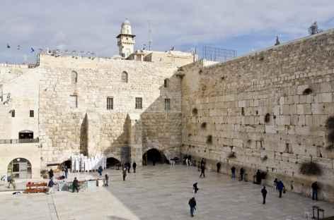 Mur Occidental du Temple (ou Mur des des Lamentations), Jérusalem - Israël -