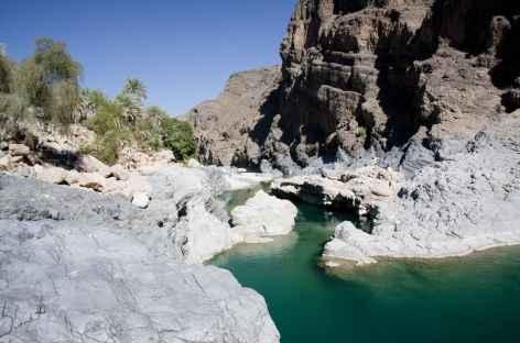 L'une des vasque du wadi Al Arbeyeen - Oman -