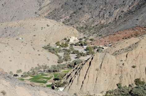 Dans les montagnes du Wadi Bani Awf -