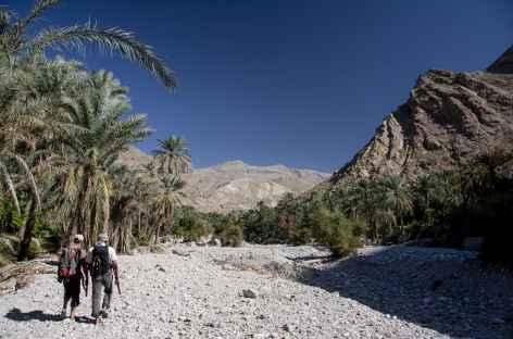 Marche dans le wadi Bani Khalid - Oman -
