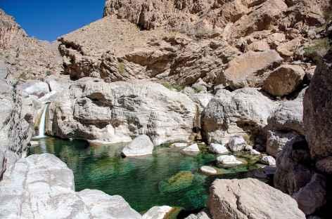 Vasque dans le Wadi Bani Khalid - Oman -