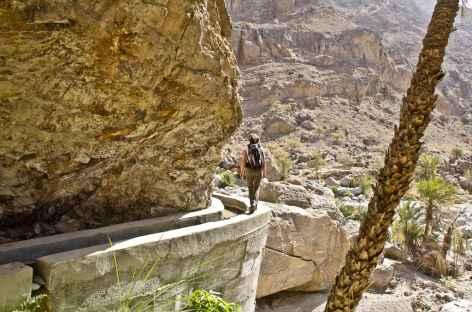 Randonnée entre le col de Sharaf Al Alamain et Misfat Al Abreyeen - Oman -