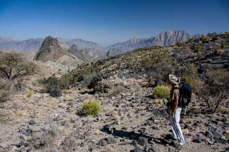 Rando dans les montagnes du Wadi Bani Awf - Oman -