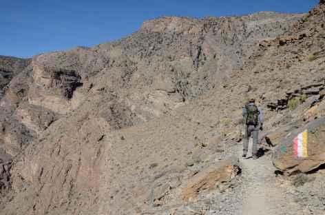 Trek dans la palmeraie de Masirat Ash Shirayqiyyin - Oman -