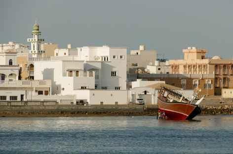 Lagune et ville de Sur - Oman -