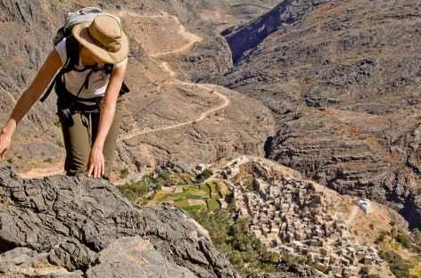 Dernier effort avant d'atteindre le col de Sharaf Al Alamain - Oman -